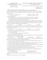 ĐỀ THI THỬ ĐẠI HỌC LÂǸ 2 NĂM 2011-2012 Môn: Sinh hoc; Khôi B potx