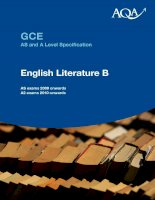 GCE AS and A Level Specification English Literature B pot