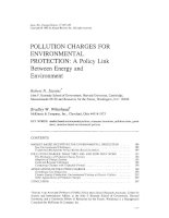 POLLUTION CHARGES FOR ENVIRONMENTTAL PROTECTION: A POLICY LINK BETWEEN ENERGY AND ENVIRONMENT ppt