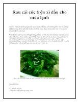 Rau cải cúc trộn xì dầu cho mùa lạnh pdf