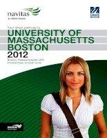 University of Massachusets in Boston brochure ppt