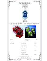 Đề tài: Ứng dụng vật liệu bao bì trong thực phẩm và thủy sản potx