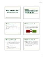 Kinh kế học vi mô 2 - Chương 3: Mở rộng lý thuyết sản xuất và chi phí sản xuất pdf