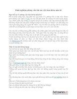 Kinh nghiệm phỏng vấn khi xin việc làm thêm mùa hè pdf