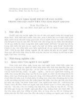 Báo cáo khoa học:Quan niệm nghệ thuật về con người trong truyện ngắn Việt Nam giai đoạn 1940-1945 doc