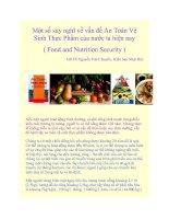 Một số suy nghĩ về vấn đề An Toàn Vệ Sinh Thực Phẩm của nước ta hiện nay ( Food and Nutrition Security ) pot
