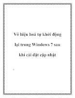 Vô hiệu hoá tự khởi động lại trong Windows 7 sau khi cài đặt cập nhật doc