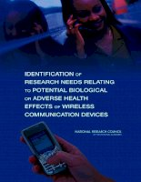 Identification of Research Needs Relating to Potential Biological or Adverse Health Effects of Wireless Communication pdf