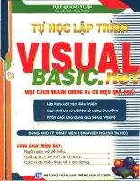 Tự học Visual Basic.net một cách nhanh chóng và hiệu quả nhất pdf