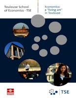 "Toulouse School of Economics - TSE: Economics: a ""living art"" in Toulouse potx"