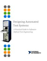 Designing Automated Test Systems - A Practical Guide to Software- Defined Test Engineering doc