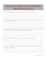 30 bài toán đặt ẩn giải phương trình tìm kết quả pdf