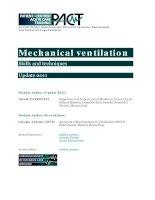 Mechanical ventilation Skills and techniques pot