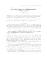 Một phương pháp kiểm tra tính ngẫu nhiên của dãy nhị phân. docx