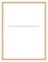 KỲ THI TUYỂN SINH LỚP 10 THPT MÔN TOÁN 2012- 2013 docx