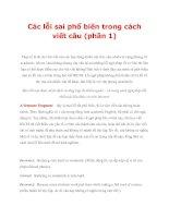 Các lỗi sai phổ biến trong cách viết câu (phần 1) potx