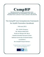 The CompHP Core Competencies Framework for Health Promotion Handbook ppt
