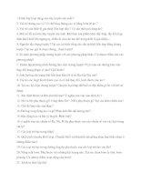 Câu hỏi và đáp án đồ án hóa công doc