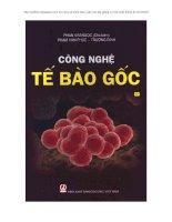 ebook công nghệ tế bào gốc - chủ biên phan kim ngọc
