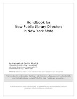 Handbook for New Public Library Directors in New York State pdf