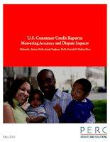Alternative Data U.S. Consumer Credit Reports: Measuring Accuracy and Dispute ImpactstsMichael A. Turner, Ph.D., Robin Varghese, Ph.D., Patrick D. pot