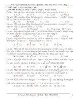 Tóm Tắt Lý Thuyết Và PP Giải Bài Tập Vật Lí 12 - Năm Học 2013 – 2014 – Tập 2