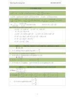 Tổng hợp công thức toán cần nhớ cấp 3