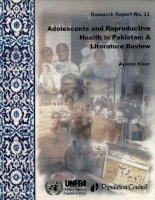 ADOLESCENTS AND REPRODUCTIVE HEALTH IN PAKISTAN: A LITERATURE REVIEW docx
