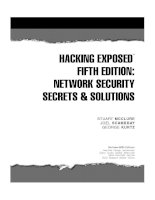 HACKING EXPOSED: NETWORK SECURITY SECRETS & SOLUTIONS SECOND EDITION pptx