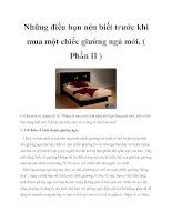 Những điều bạn nên biết trước khi mua một chiếc giường ngủ mới. ( Phần II ) pdf