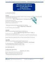 Bốn loại câu hỏi điều kiện và chữa câu hỏi trong đề thi (Tài liệu bài giảng) pot