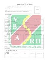 mẫu đơn thông tin ứng viên ngân hàng arigbank