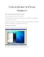 Cách cài đặt máy in IP trong Windows 7 ppt