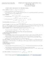 Tổng hợp đề thi thử ĐH môn Toán các khối Đề 36 pdf