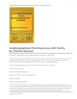 Autobiographical Reminiscences with Family Letters and Notes on Music pdf