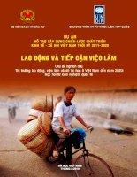 Báo cáo Dự án hỗ trợ xây dựng chiến lược phát triển kinh tế - xã hội Việt Nam thời kỳ 2011-2020 : Lao động và tiếp cận việc làm doc