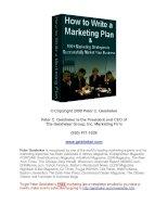 Làm thế nào để viết một bản kế hoạch marketing