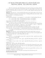 Sử dụng hàm số giải phương trình, hệ phương trình