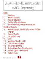 Chapter 1 – Introduction to Computers and C++ Programming pot