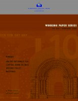 WORKING PAPER SERIES NO 868 / FEBRUARY 2008: PURDAH ON THE RATIONALE FOR CENTRAL BANK SILENCE AROUND POLICY MEETINGS pptx