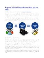 Làm sao để bán hàng online đạt hiệu quả cao nhất pptx