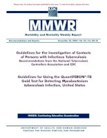 Guidelines for the Investigation of Contacts of Persons with Infectious Tuberculosis Recommendations from the National Tuberculosis Controllers Association and CDC pptx
