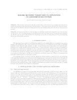 Lý thuyết mạng hàng đợi và ứng dụng trong các hệ thống truyền tin. ppt