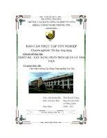 Đề tài: Thiết kế xây dựng phần mềm quản lý thư viện - Thư viện trường Cao Đẳng Công nghiệp Tuy Hòa pptx