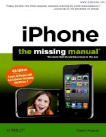 iPhone: The Missing Manual, 4th Edition ppt