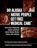 Do Alaska Native People Get Free Medical Care And other frequently asked questions about Alaska Natives issues and cultures pptx