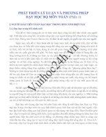 PHÁT TRIỂN LÝ LUẬN VÀ PHƯƠNG PHÁP DẠY HỌC BỘ MÔN TOÁN Phần 1 potx