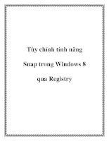 Tùy chỉnh tính năng Snap trong Windows 8 qua Registry pdf