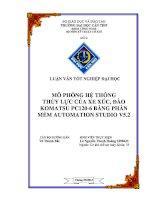 mô phỏng hệ thống thủy lực của xe xúc, đào komatsu pc120-6 bằng phần mềm automation studio v5.2