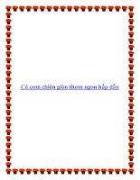 Cá cơm chiên giòn thơm ngon hấp dẫn pdf